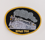 Photo of Patch with SP&S 700 Steam Locomotive