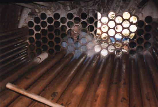 Retubing the boiler.