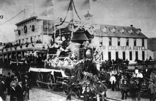 Villard Gold Spike Excursion in The Dalles, OR in 1883